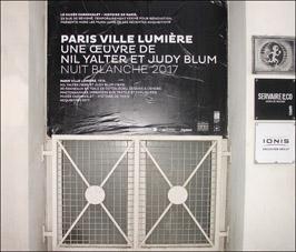 """Nuit Blanche 2017.""""Paris Ville Lumière"""". Musée Carnavalet & La Perle."""