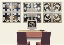 Paintings of Pixelismus by Nil Yalter